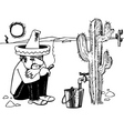 Mexican man vector image