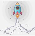 minimalistic rocket launch flat icon rocket vector image