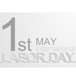 modern 1 may international labour day vector image vector image