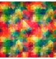 Multicolor Abstract triangle mosaic background vector image vector image