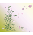 Natural background with trees and flowers vector image vector image