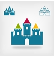 old castle with towers symbol vector image