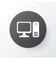 personal computer icon symbol premium quality vector image vector image