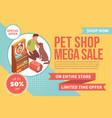 pet shop sale banner vector image vector image