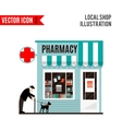 Pharmacy shop icon isolated on white background vector image