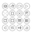 photo and video icons of thin lines vector image
