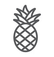 pineapple line icon fruit and food tropical vector image vector image