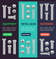 realistic screw different shapes banner vecrtical vector image vector image