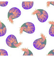 seamless pattern with colorful nautilus animals vector image vector image