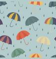 seamless vintage umbrella pattern vector image vector image