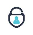 security human lock icon logo design element vector image