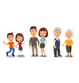 set generations couples holding hands different vector image