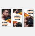 set of web banners with place for photo and vector image vector image
