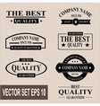 set vintage quality guaranteed labels vector image vector image