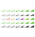 signal strength indicator template wi-fi wireless vector image vector image