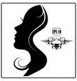 silhouette of a beautiful woman vector image vector image