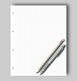 Sketch pad and pencil vector image vector image