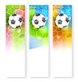 skyscraper sport soccer banner with ball glitter vector image vector image