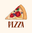 slice or piece of appetizing delicious classical vector image