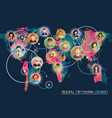 social network concept flat design for web sites vector image vector image