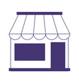 store facade market commercial isolated icon line vector image