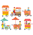 Street Food and Drink Hawker Seller vector image vector image