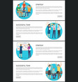 successful team and strategy promo internet pages vector image vector image