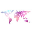 template world map with global technology vector image vector image