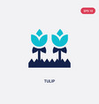 two color tulip icon from gardening concept vector image vector image