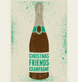 typographic retro grunge christmas poster vector image vector image