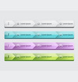 web site design menu navigation elements vector image vector image