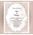 Wedding card template with frame and elegant vector image vector image