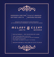 wedding invitation template certificate background vector image vector image