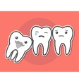 Wisdom tooth causes pain concept vector image