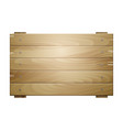 wooden board sign vector image vector image