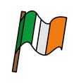 ireland flag isolated icon vector image
