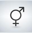 male and female sex symbol black vector image