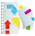 set of arrow and sticker vector image