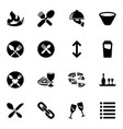 16 menu icons vector image vector image