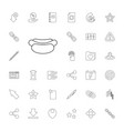 33 interface icons vector image vector image