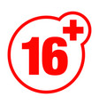 a sixteen years over icon set vector image vector image