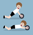 ab wheel training vector image vector image