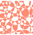 abstract coral intersecting circles seamless vector image
