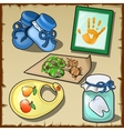 Accessories of the children set of five items vector image