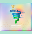 arrow twists to success vector image