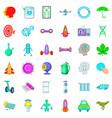 atom icons set cartoon style vector image vector image