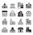 basic building icons set vector image vector image