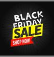 black friday banner shop now concept vector image