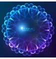 Blue abstract cosmic background vector image vector image