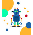 blue robot card vector image vector image